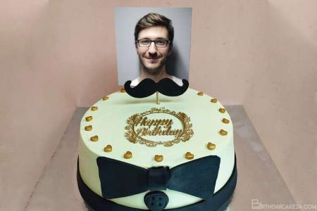Birthday Cake for Husband/ Boyfriends/ Boss With Photo Edit