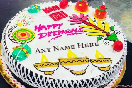 Happy Diwali Cake With Name Edit