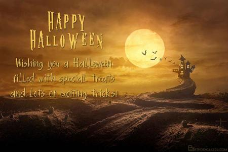 Design Spooky Halloween Greeting Card Picture Maker Online