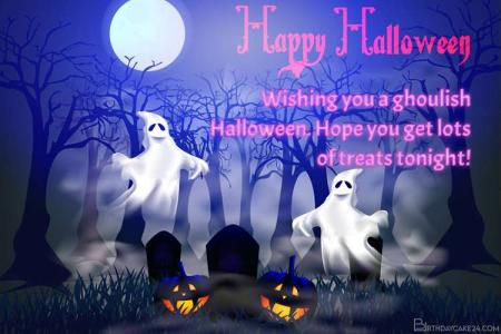 Create Spooky Halloween Greeting Cards Images