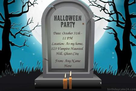 Free Halloween Party Invitations Card Maker Online