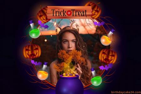Trick or Treat Halloween Card With Photos
