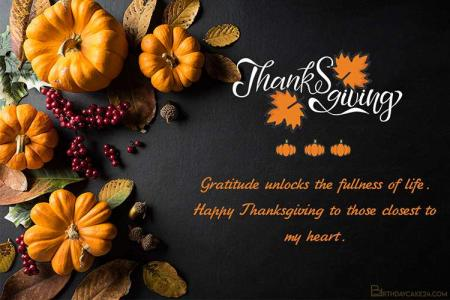Autumn Thanksgiving Card With Wishes Editor