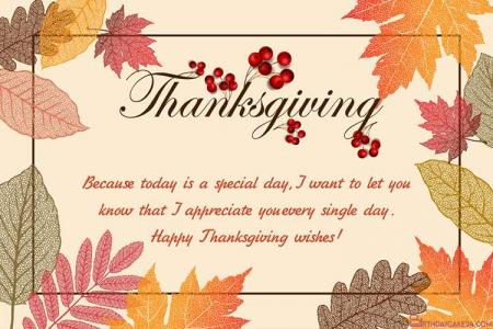 Happy Autumn Thanksgiving Card Maker Online