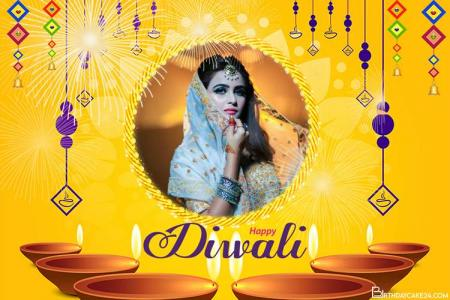 Luxury Golden Diwali 2021 Photo Frame