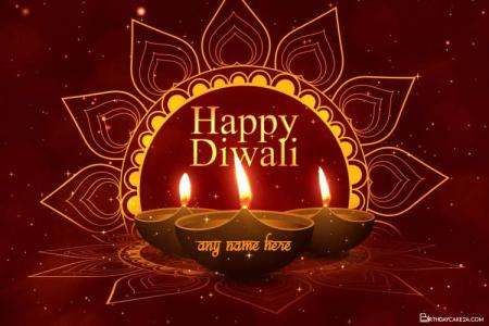 Create Happy Diwali Video Card With Name Edit