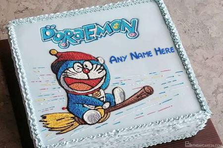 Happy Birthday Doraemon Wishes Cake With Name Edit