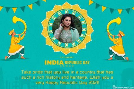 Generate Indian Republic Day Wishes Card With Photo Frames