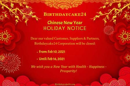 Chinese New Year Holiday Notice Free Download