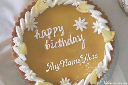 Birthday Wishes Fruit Cake With Your Name