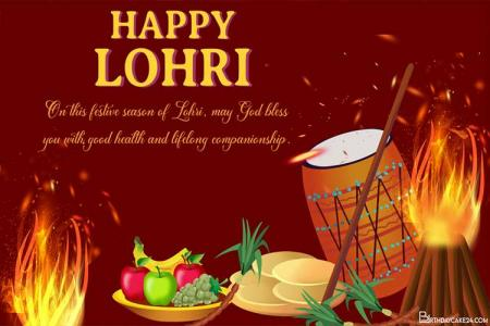Happy Lohri Celebration Greeting Card Images Download