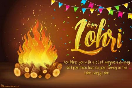 Online Lohri Cards Maker With Name Or Wishes