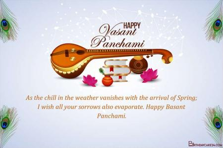 Customize Your Own Happy Vasant Panchami Greeting Card