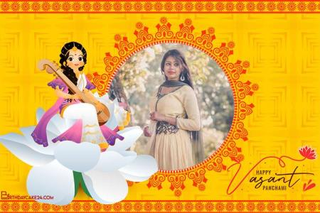 Goddess Saraswati Photo Frames For Vasant Panchami