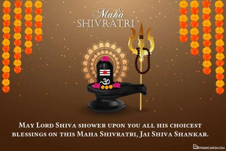 Latest Maha Shivratri Card Template With Wishes Editing