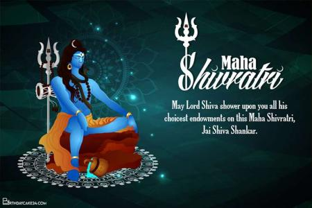 Mahashivratri Greeting Cards Maker Online
