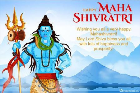 Maha Shivratri Cards - Personalized Maha Shivratri Greeting Card Online