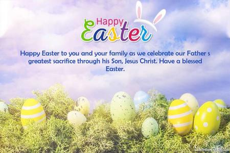 Write Your Wishes On Happy Easter Day Greeting Cards