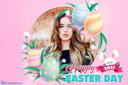 Happy Easter Day Photo Frames Online Editing