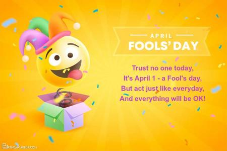 Realistic April Fools' Day Cards Online Free