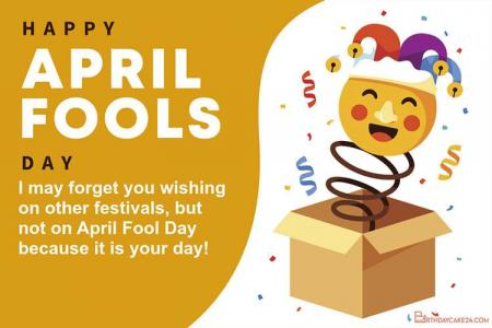 Customize FApril Fool's Day Greeting Card For Free