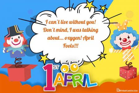 Write Wishes On April Fool's Day Cards Online