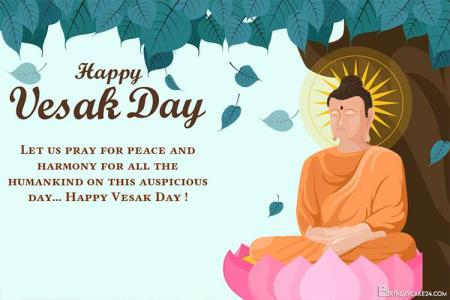 Wishing You A Blessed Vesak Day Greeting Cards