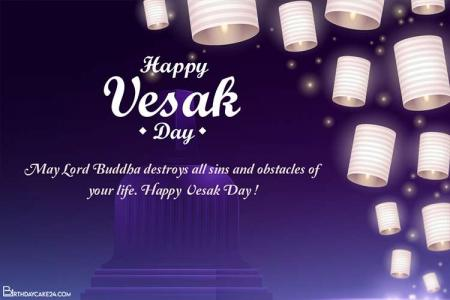 Realistic Vesak Day Card Images Download