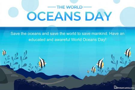 Save the Ocean - Free World Oceans Day Cards Online