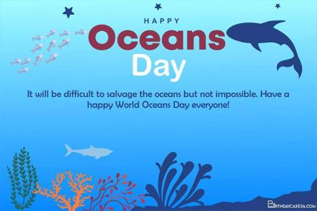 Customize Your Own World Ocean Day Greeting Cards