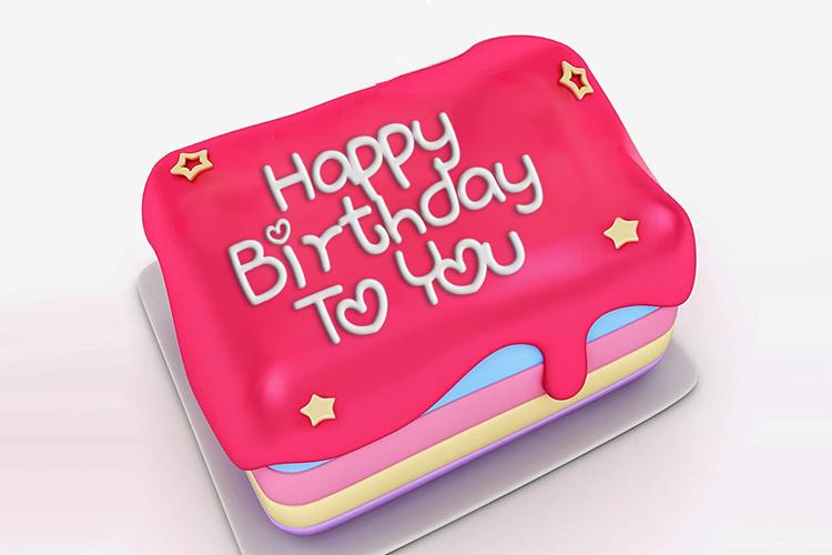 Write Wishes On Birthday Cake