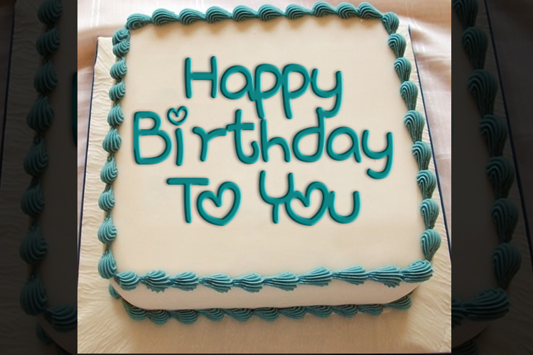 Write your name, greetings to birthday cake online