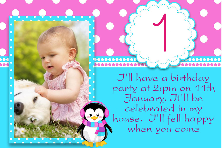 Pretty birthday invitation card
