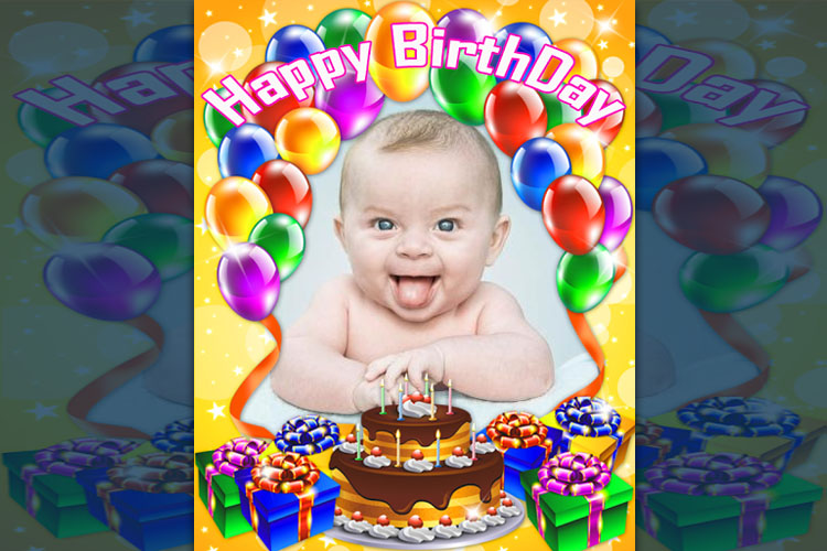 Beautiful birthday photo frame