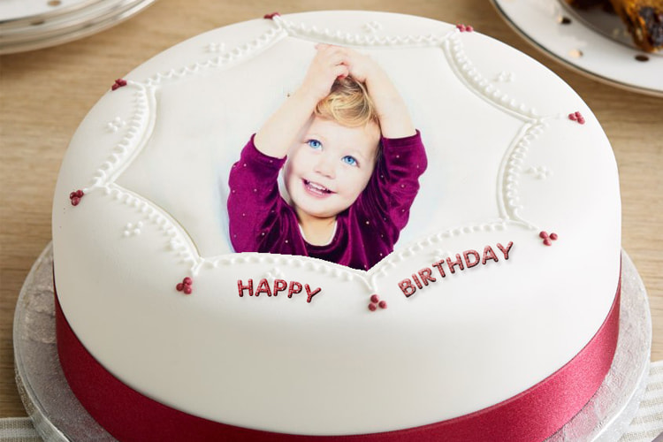 Frame birthday cake photo for friend and family