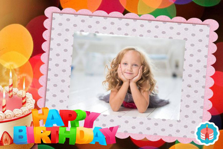 Happy birthday online photo frame