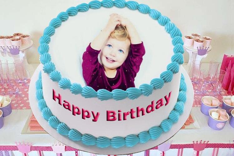 Photo Frame For Baby Birthday Cake