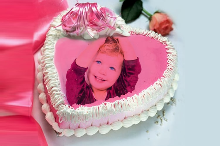 Beautiful birthday cakes with photo edit