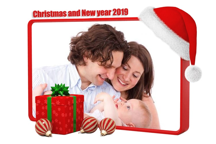 Frame Christmas & Happy new year 2019