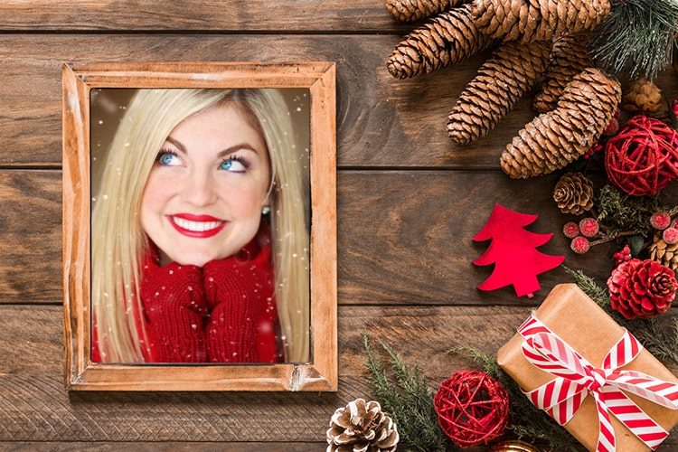 Christmas photo frame online