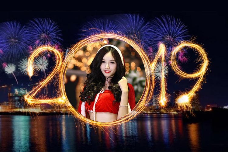 Happy New year  2019 with photo