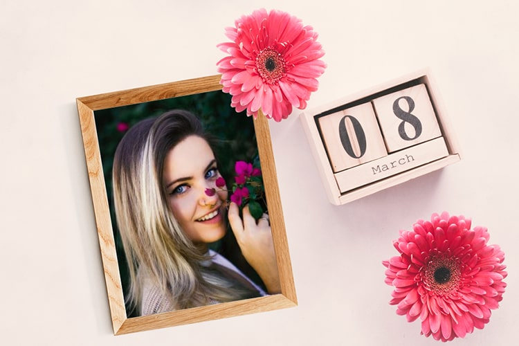 Happy Women's Day Photo Frame With Your Photo
