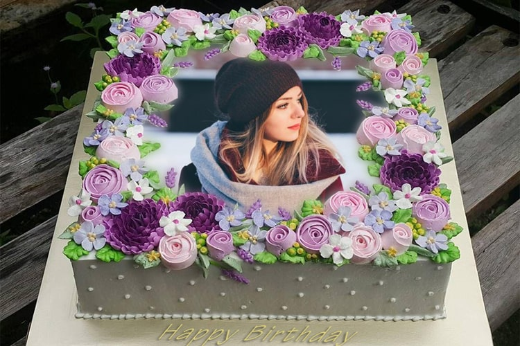 Flower Birthday Cake With Photos For Lovers