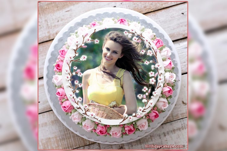 Flower Birthday Cakes For Women With Photo