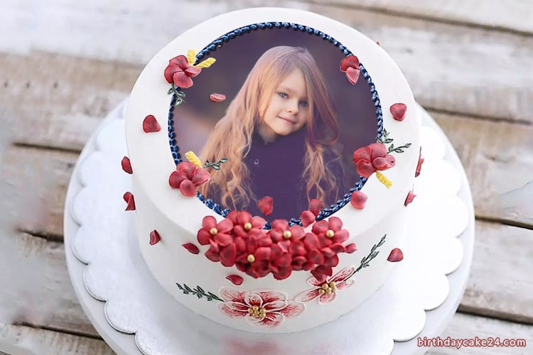 Lovely Flower Birthday Cake With Pictures Online