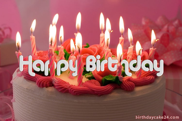 Tremendous Write Name On A Beautiful Candle Birthday Cake Funny Birthday Cards Online Elaedamsfinfo