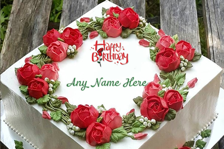 Brilliant Rose Flavor Birthday Cake For Friend With Name On It Funny Birthday Cards Online Chimdamsfinfo