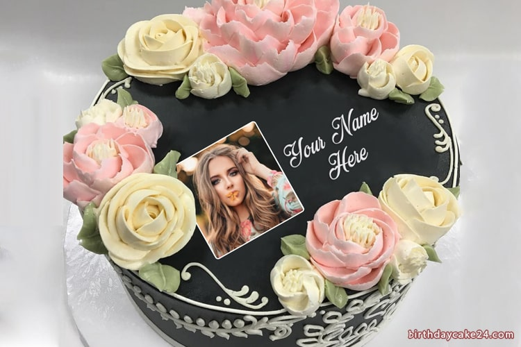 Latest Birthday Cake With Name And Photo Edit