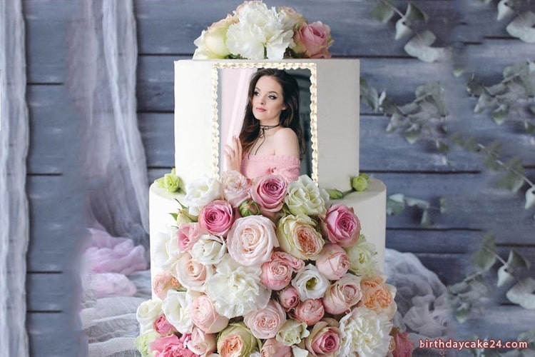 2-tier Birthday Cake With Photo And Name Editing
