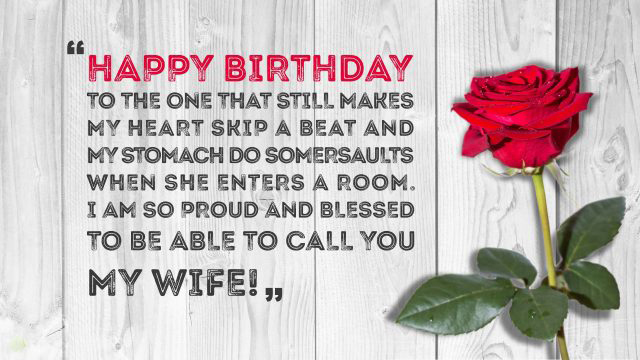 Happy birthday wishes for Wife !